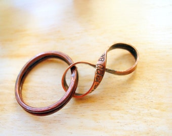 8th Anniversary Gift, 19th Anniversary Gift, Custom Bronze Infinity Key Ring, Figure 8, Infinity for Husband -PERSONALIZED