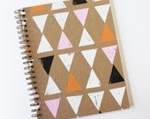 triangle notebook no. 1 ... white, pink, orange, and black on kraft