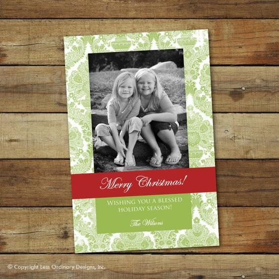 formal christmas card