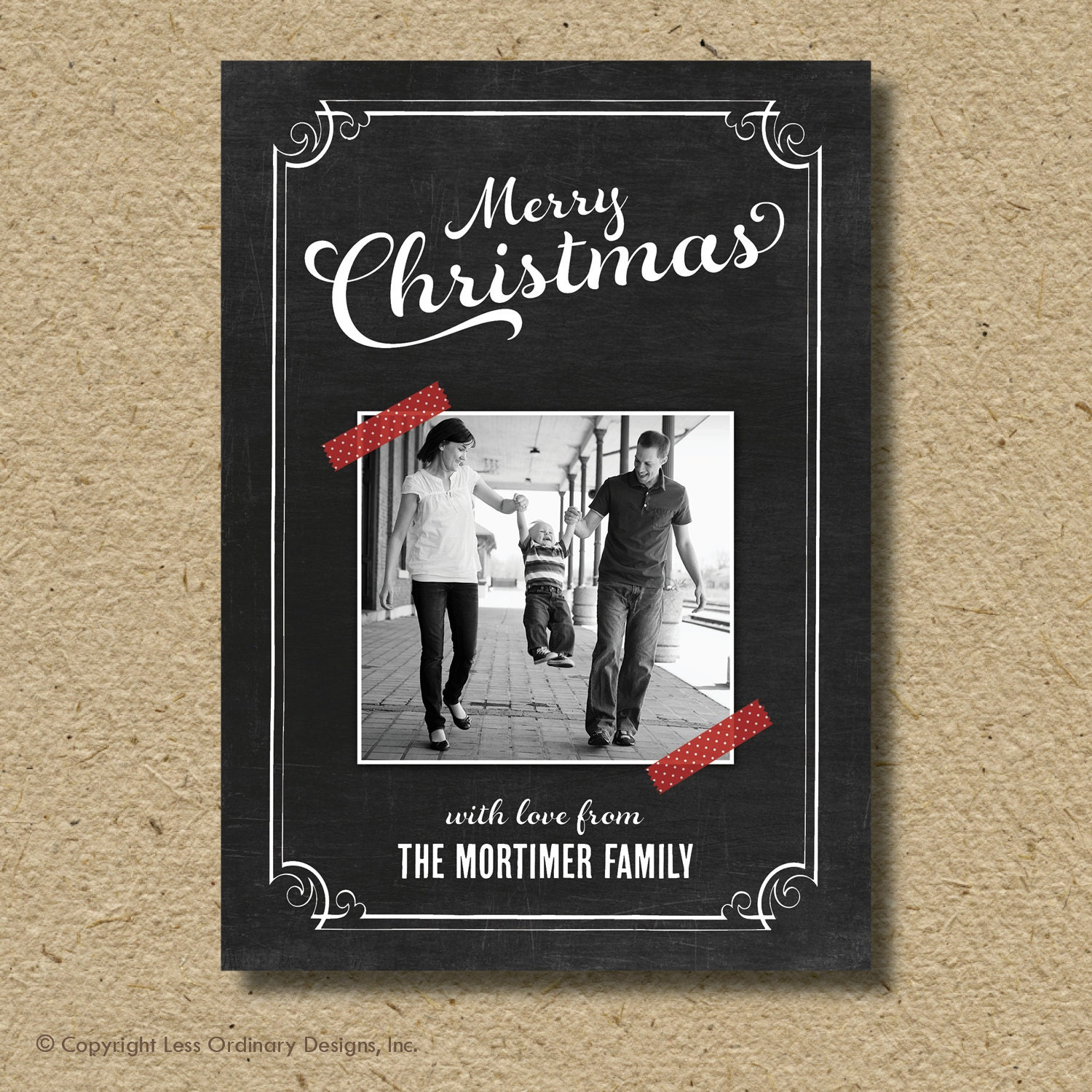 Unavailable listing on etsy for Chalkboard christmas cards