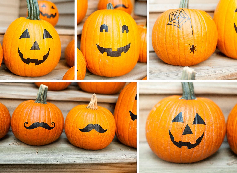 Halloween Pumpkin Stickers pumpkin decals Pumpkin face