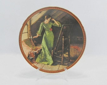 Vintage Norman Rockwell Plate Quiet Reflections