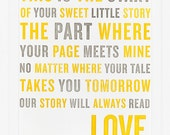 Our Story Print