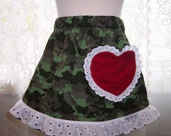 My Carrie  A-Line Corduroy Love My Hero Pocket Skirt Size 2T RTS