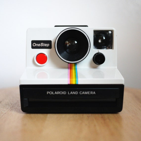 Vintage White Polaroid OneStep Land Camera (Battery Tested)
