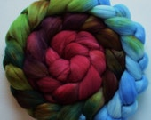 Wool Roving spinning or felting Red Earth 3.5ozs gradient roving Pre-order