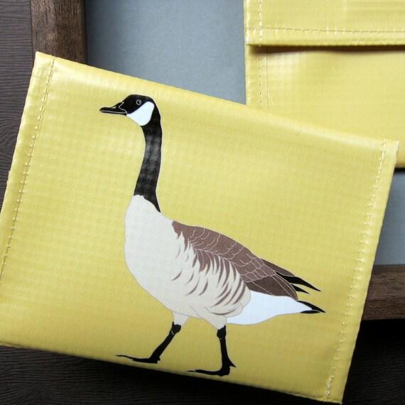Canada Goose Coin  Vinyl Purse / Pouch / Wallet--Eco Friendly--Birdwatcher Gift