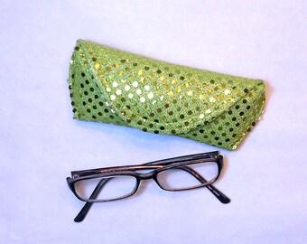 Eyeglass Case or Sunglass Case - Lime Bling