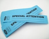 Office Supplies - Paper Tags - SPECIAL ATTENTION tags - set of 100