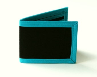 Black 'N' Teal Billfold - Vegan Friendly Wallet