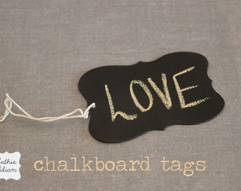 Chalkboard Tags for scrapbooking, altered art, cottage chic, packaging, gift wrapping