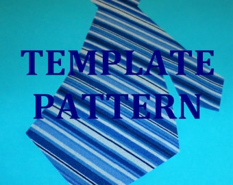 2 Styles 2 Sizes...Applique Pdf TEMPLATE Pattern Only Neck Tie...One Piece MESSY TIE..New