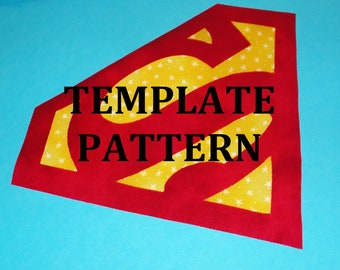 Applique Pdf TEMPLATE Pattern Only SUPERMAN LOGO...New