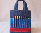 Coloring Bag Crayon Bag Crayon Tote READY To SHIP ARTOTE Mini in I Am A Robot