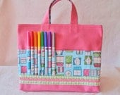 Coloring Bag Crayon Bag Crayon Tote READY to SHIP ARTOTE in Window to your Soul