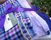 Swaddler Baby Blanket trio - 3 Oversized Cotton Gauze Baby Receiving Wraps - Periwinkle, Lavender, Purple