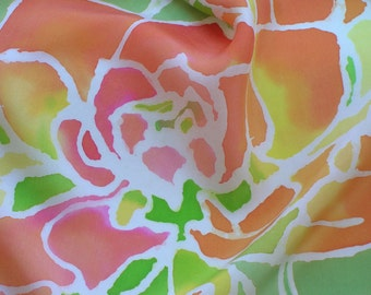 Serti Painted Silk Scarf with Texas Paintbrushes
