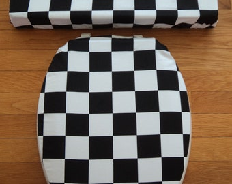 Checkered Flag.. Toilet Seat Cover Set