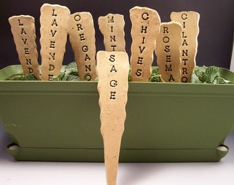 Made to Order- Garden Pottery Herb/ Vegetable Markers/Garden Markers