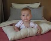 Organic Pillow, Natural Hemp, 14 x 24