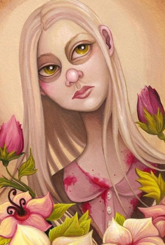 Mary, How Does Your Garden Grow (Original Art)