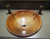 """Handmade Pottery Sink For Your Bathroom Remodeling Project - """"Drop-in"""" Bathroom Sink Design """"With NO Overflow"""" - Made to Order"""