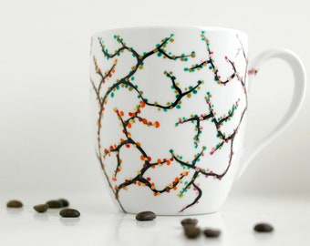 The Four Seasons Coffee Mug - Hand Painted Four Season Mug