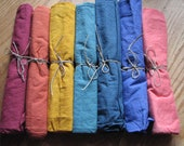 CHOOSE ONE from our Waldorf Inspired Rainbow Play Cloths 27 x 27 inch
