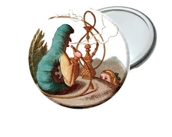 Mirror - Classic Alice In Wonderland Caterpillar and Alice Image