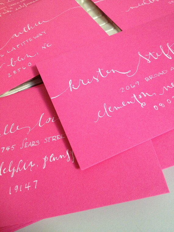 Address Calligraphy for your Invitations Wedding or Shower