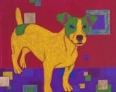 Jack Russell Terrorist - Jack Russell Print - Jack Russell Art - Dog Pop Art - by dogpopart