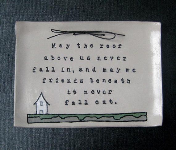 Irish Wedding Gift Ideas: Irish Blessing: Home Sign Housewarming Gift Wedding Gift