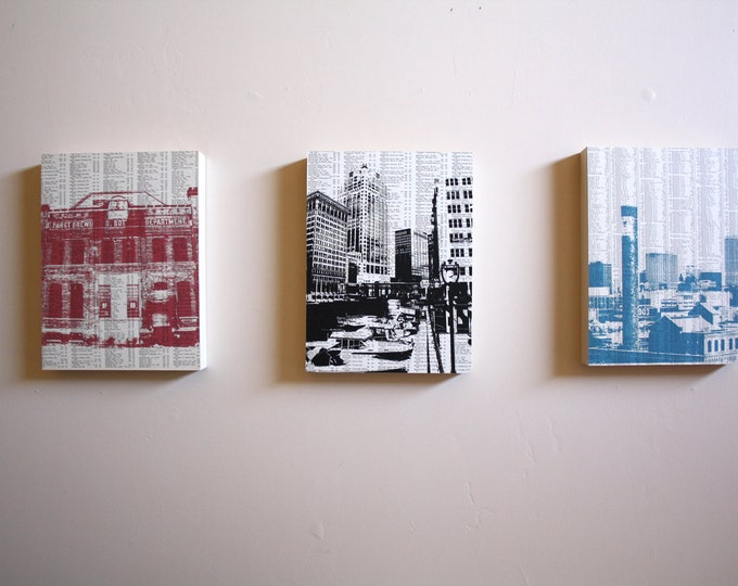 Milwaukee Mounted Print Set of 3