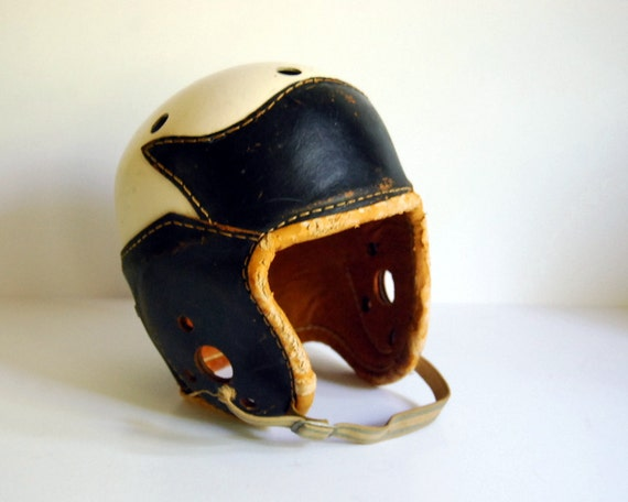Reserved for Annabella -- Vintage 1940s Football Helmet Leather Nokona 305 Sports Collectibles