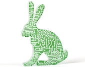Circuit Board Hare Glass Sculpture
