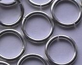 Metal Rings, Jump Rings, Silver Jump Rings, 6mm Ring, 8mm, Silver Metal Jump Rings, Silver Findings, Silver Hardware, Metal Jewelry Rings