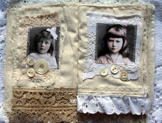 Shabby Petite HANDMADE Fabric Book