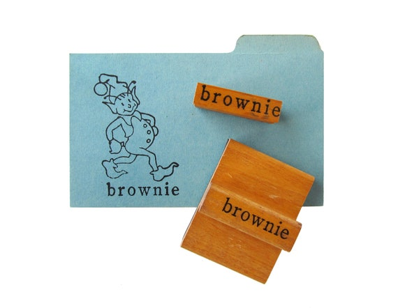 Vintage BROWNIE Rubber Stamps - Set of 2