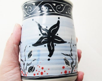 Sea Star Vase Wheel Thrown Pottery