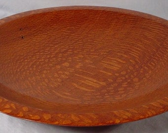Brazilian Leopardwood Platter Exotic Wood Bowl number 4691