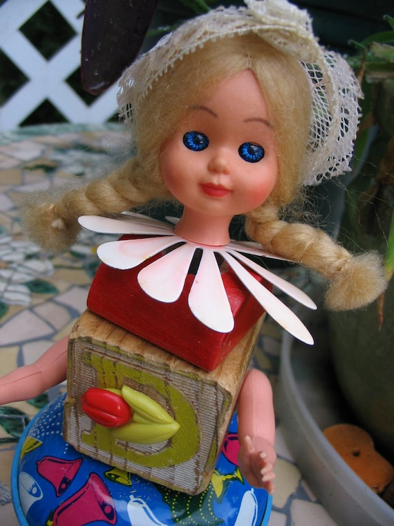 Handmade Robot Doll Steampunk Severed Dutch Doll Blonde Bombshell Repurposed Art Doll