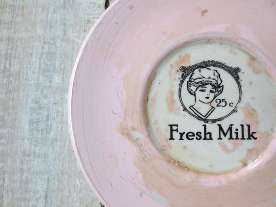 Milk Sign // Shabby  Pink Kitchen Decor // Cottage Chic //  Vintage Milk Sign // Dairy Sign // Farm Sign // French Market