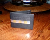 Duct tape wallet with BLING. silver and gold and gaffer tape