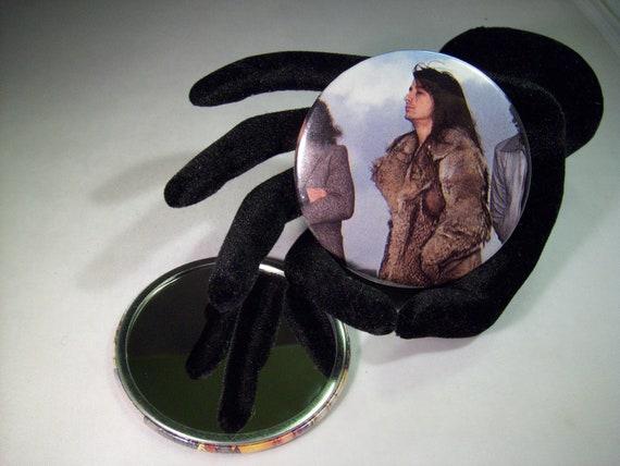 Journey's Steve Perry  -   repurposed pocket mirror