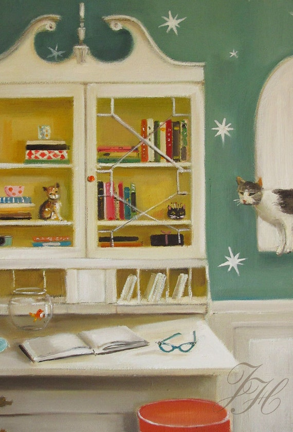 Cat Burglar- Canvas Reproduction Print