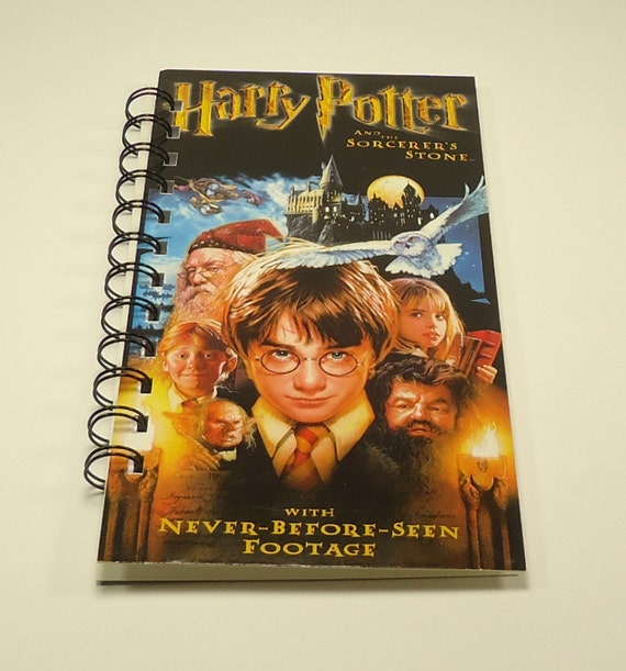 Harry Potter And The Sorcerers Stone Upcycled Spiral Bound Notebook