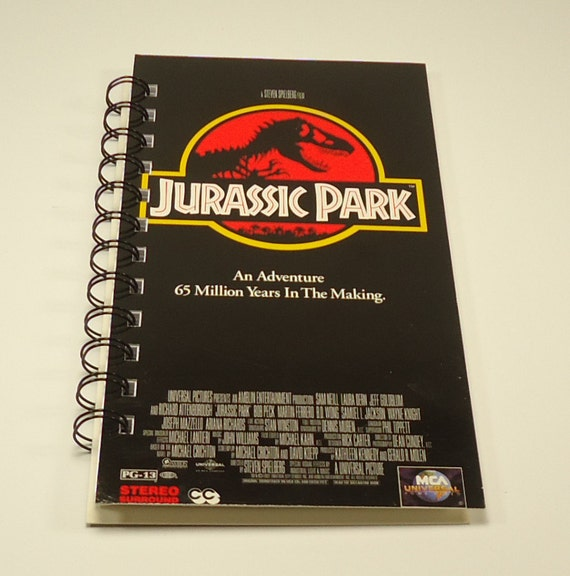 Jurassic Park Upcycled Spiral Bound Notebook