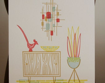 SALE Mid-Century II Limited Edition Letterpress Print