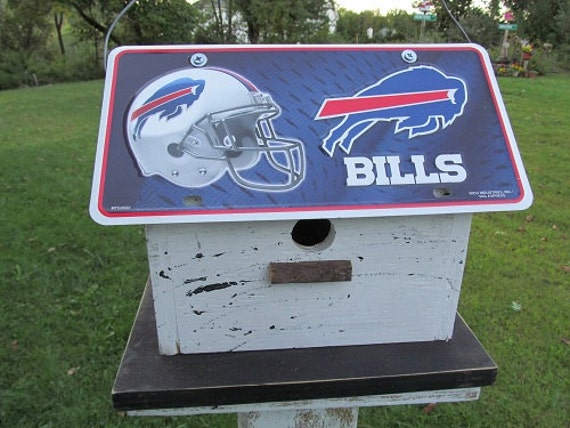 Buffalo Bills License Plate Primitive Birdhouse Football