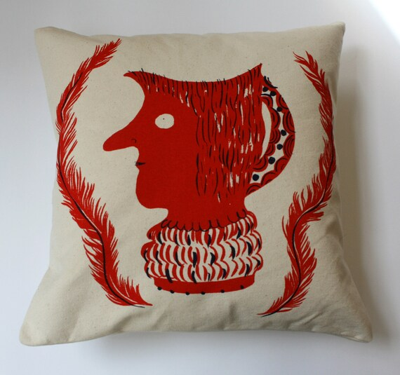 Toby jug cushion cover